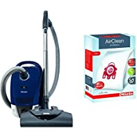 Miele Compact C2 Electro+ Canister Vacuum,Marine Blue & Miele AirClean 3D Efficiency Dust Bag, Type FJM, 4 Bags & 2 Filters