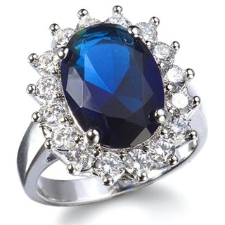Avon Plated Gold (AVON Majestic Princess Ring - Replica of Princess Diana / Kate Ring (6))