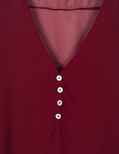 Burdeos Botones 365 tiendas Blusa Con Mujer HCHOqXt