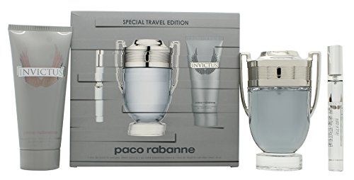 Paco Rabanne Invictus 3 Piece Gift Set for Men