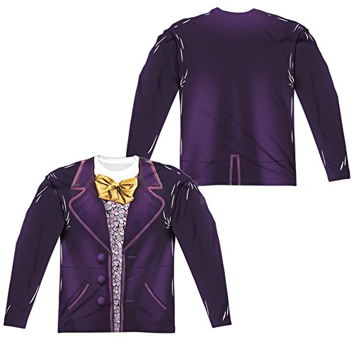 Willy Wonka & The Chocolate Factory Wonka Costume Adult Long Sleeve T-Shirt Heather 2X-Large ()