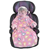 POP-ON Baby//Toddler Cuddle Fleece Blanket with Sleeves for Pushchair Stroller and Car Seats PINK HEARTS