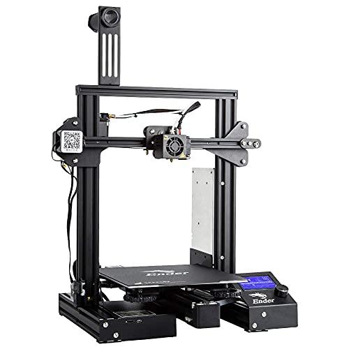 Impresora 3D COMGROW Creality Ender 3 Pro con placa de superficie de construcción extraíble y fuente de alimentación certificada UL 220x220x250mm