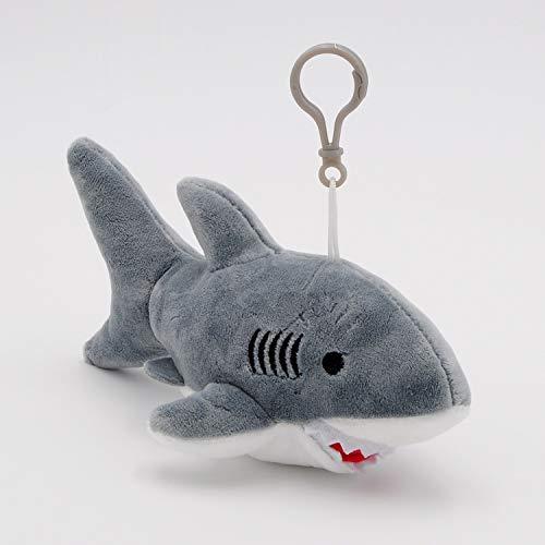 JEWH Cute Shark Plush Toys - Kawaii Bag Backpack Pendant Keychain - Stuffed Animals Kids Toys for Children Birthday Gift Doll [18cm] ( Gray)