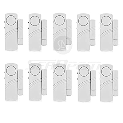Wireless Home Security Alarm System DIY Kit - Magnetic Sensor - Guardian Protector - Window Glass Vibration Security Burglar Alarm for Homes, Cars, Sheds, Caravans, Motorhomes - Price Xes (Set of 10)