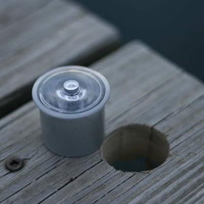 "Lake Lite 4pk Solar Dock Dots - BLUE (Requires 1-3/8"" Hole)"