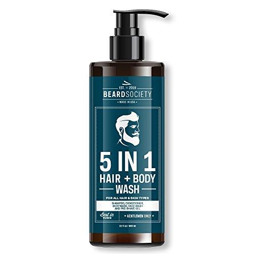 Beard Society 5-in-1 Hair Body Wash 32oz 960ml