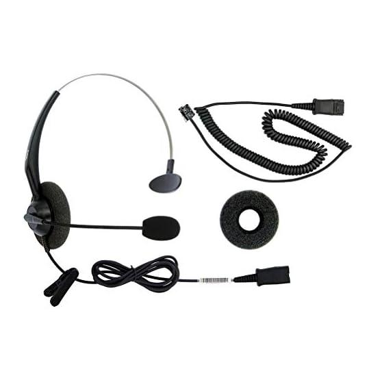 DailyHeadset RJ9 Corded Phone Headset Corded Home Telephones Office Analog Phones Aastra Avaya Digium Mitel NEC Polycom… 41iKdBE4oYL. SS555
