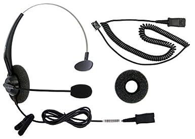 Amazon Com Dailyheadset Rj9 Corded Phone Headset For Corded Home Telephones Office Analog Phones Aastra Avaya Polycom Digium Mitel Shoretel Nec Phone Industrial Scientific