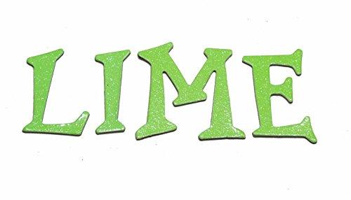 Lime Glitter HandCut 1.5
