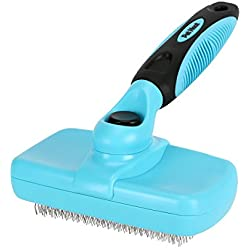 Pet Neat Self Cleaning Slicker Brush Effectively Reduces Shedding by Up to 95% - Professional Pet Grooming Brush for Small, Medium & Large Dogs and Cats, with Short to Long Hair