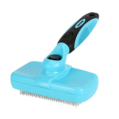 Pet Neat Self Cleaning Slicker Brush Effectively Reduces Shedding By Up To 95% – Professional Pet Grooming Brush For Small, Medium & Large Dogs And Cats, With Short to Long Hair