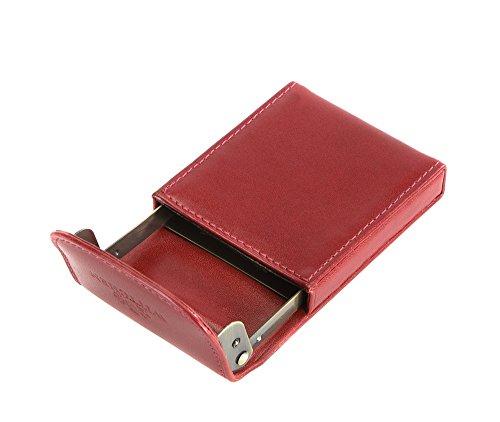 WITTCHEN caso, Rosso, Dimensione: 10.5x6.5 cm - Materiale: Pelle di grano - 21-2-151-3