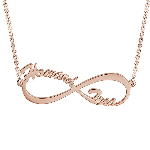 SOUFEEL Infinity Love Necklace Custom Name Necklace Personal