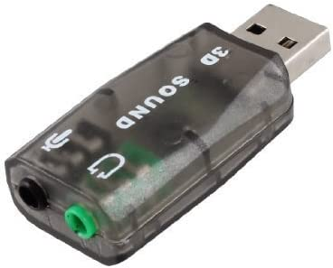 eDealMax 3.5mm Micrófono Toma de auriculares USB 2.0 a 3D Tarjeta de sonido Adaptador de Audio DE 5.1 Canales Para PC portátil