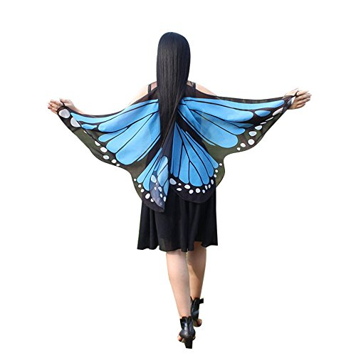 iLXHD Women Bohemian Butterfly Print Shawl Pashmina Costume Accessory for $<!--$4.58-->