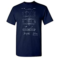 """Rolls Razor patent art t-shirt by Patent Earth™. These shirts look awesome, fit well and are great conversation starters! Printed On Demand. Most orders ship within 3 business days and arrive in 6 to 9 days.  Sizing Guide: Small - Length: 28""""..."""