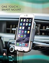 Bestrix - Soporte universal para teléfono móvil de CD compatible con todos los smartphones de hasta 6,5 pulgadas