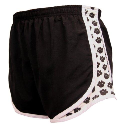 Boxercraft Black with Paw Print, Velocity Short - Lightweight Womens Sizes Black-Adult Medium
