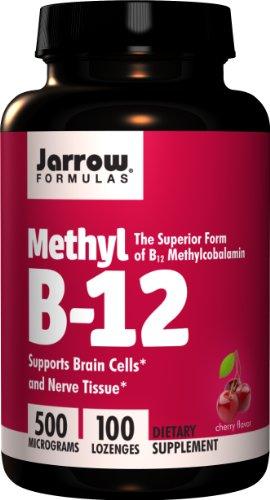 Jarrow Formulas méthyle B12 500mcg Pastilles, 100 comte