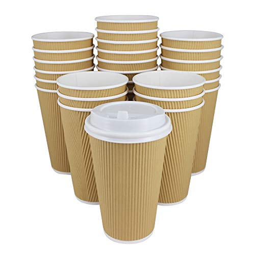 80 Pack 16 OZ HotPaper Coffee Cups with
