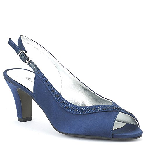 David Tate Women's Dainty Navy 8 M US