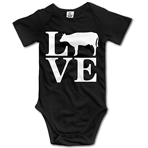 Cow Sleeper - YUE-SKD-SK Love Cows Newborn Baby Girl Clothes Short Sleeve Baby Girls Assorted Short Sleeve Bodysuit Onesies