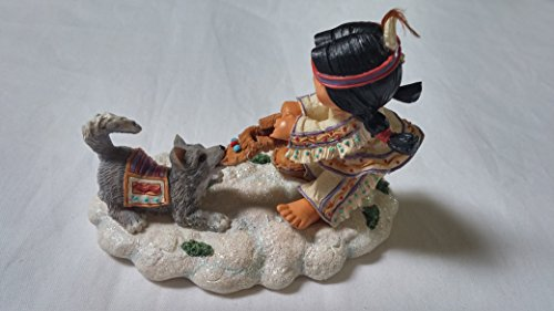 Friends Of The Feather Mischief Afoot, Girl Pulling On Shoe Figurine, Native American