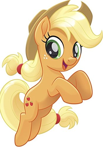 (8 Inch Fluttershy Wall Decal Sticker MLP My Little Pegaus Pony The Movie Removable Peel Self Stick Adhesive Vinyl Decorative Art Kids Room Home Decor Girl Bedroom Nursery 5 1/2 by 8 inches tall)