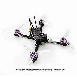 HGLRC Batman 220 220mm FPV Racing Drone with Airbus F4 OSD Flight Control Carbon Fiber Aircraft Frame GTX585 VTX Video Transmitter ELF 600TVL Sony Camera (Frsky XM+)