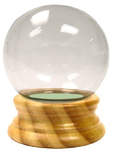 Snow Globe With Maple Finish Base Is A Fun Project For Do-It-Yourselfers by National Arcraft [並行輸入品] B017RY4P7K
