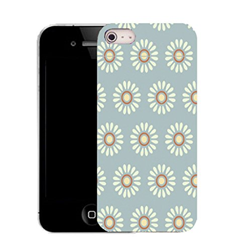 Mobile Case Mate IPhone 4s clip on Silicone Coque couverture case cover Pare-chocs + STYLET - flowery daisy pattern (SILICON)