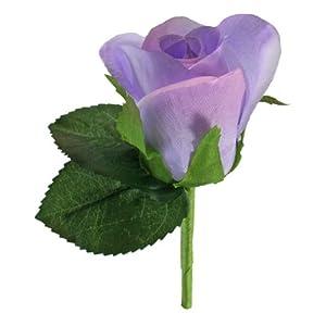 Lavender Silk Rose Boutonniere - Groom Wedding Boutonniere Prom 117