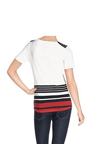 Tee-shirt Desigual Enero Blanc 61t25q2