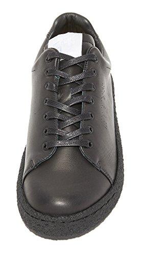 Eytys Womens Ace Chaussures De Sport En Cuir Noir