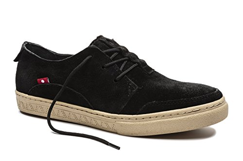 Oliberte Men's Anbesso Black Suede 41/8/11 Fashion Sneaker by Oliberte