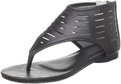Wanted Shoes Fudge Thong Sandal (Little Kid/Big Kid),Black,13 M US Little (Sandals Fudge)