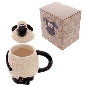 Taza cerámica Dibujo Oveja con Tapa