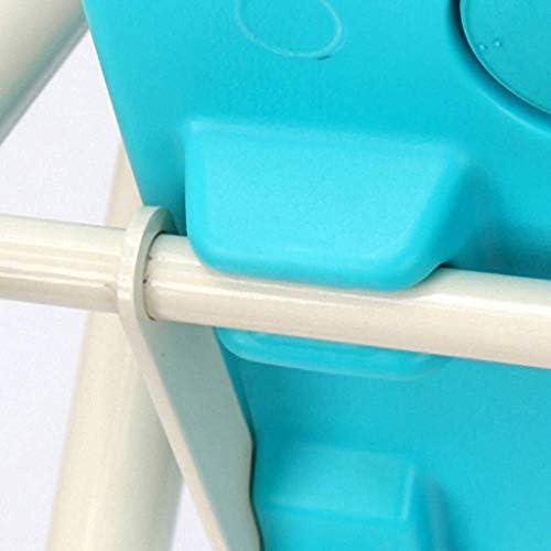 Haushalt Rutschfester Duschhocker for Bad Bank mit Rückenlehne und Griff/langem Griff/behindert/blau, Duschhocker Dusche/Bad Hocker Aluminium Duschsitz Stuhl unterstützt rutschfeste Duschstuhl