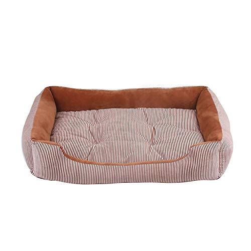 (colorful-space Dog Bed Mat House Pad Warm Winter Pet House Nest Dog Stripe Bed with Kennel for Small Medium Large Dogs Plush Cozy Nest,G193185A,50x38x15cm)