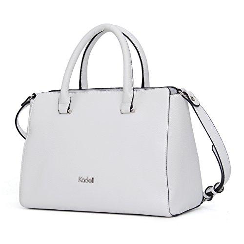 Kadell Borse a tracolla della borsa di totalizzatore della borsa del progettista delle signore delle borse delle donne leggere Grigio Bianca