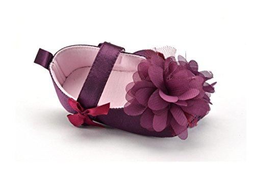 Lieberpaar Mädchen Lila Schuhe Lauflernschuhe Babyshoes aus Baumwolle Frühling und Herbst für 3-12 Monate Baby (11cm(3-6 Monate))