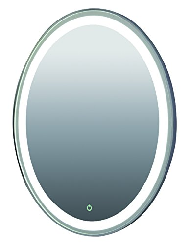 Hanging LED light mirror with aluminium sides and dimmable/ON/OFF Button by Bunnyberry Gifts
