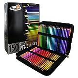 MAZIMARK--Thornton's Art Supply Soft Core 150 Piece Artist Grade Colored Pencils With Case