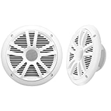 BOSS Audio MR6W 180-Watt Dual Cone Marine 6.5-Inch Coaxial Speaker
