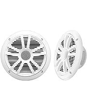 BOSS Audio Systems MR6W 180 Watt (Per Pair), 6.5 Inch, Full Range, 2 Way Weatherproof Marine Speakers (Sold in Pairs)