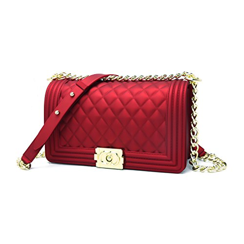 Purses Bag Jollque Shoulder Women's S Quilted Burgundy Crossbody RqTFP7
