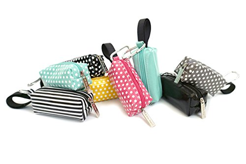 Oh Baby Bags Diaper Bag Clip-On Dispenser Gift Box with Disposable Bags for Dirty Diapers - Recycled Plastic - Gray Dot Duffle plus 48 Gray Unscented Bags
