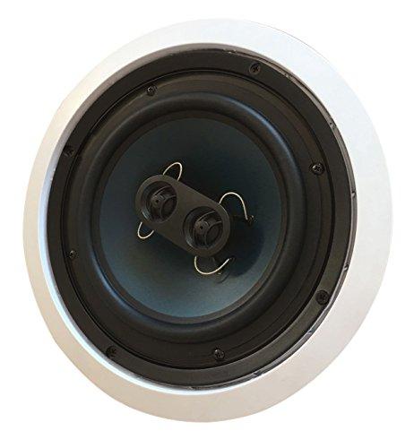 6.5 Inch in-Wall 652W Silver Ticket in-Wall in-Ceiling Speaker with Pivoting Tweeter