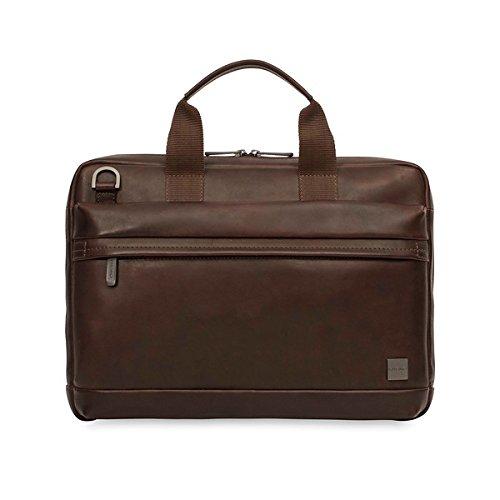 Knomo Luggage Men's Foster Briefcase, Brown, One (Knomo Laptop)